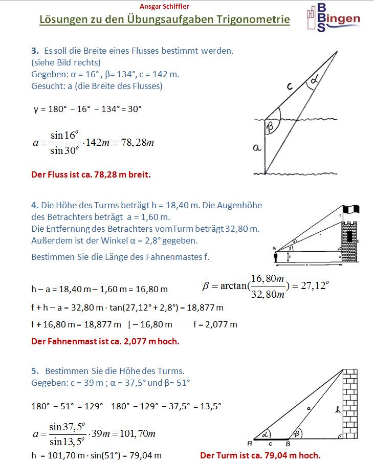 Atemberaubend Trigonometrie Probleme Mit Lösungen Und Antworten ...